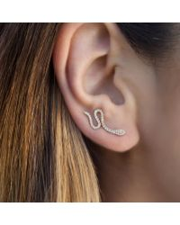 Anne Sisteron - Multicolor 14kt White Gold Diamond Snake Ear Climber - Lyst