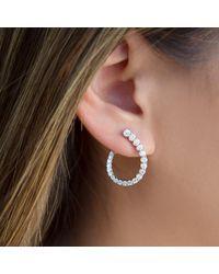 Anne Sisteron - Multicolor 14kt Rose Gold Diamond Merida Earrings - Lyst