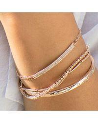 Anne Sisteron - Metallic 14kt White Gold Diamond Leash Collection Tennis Bracelet - Lyst