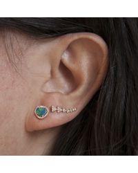 Anne Sisteron - Blue 14kt Yellow Gold Mini Organic Opal Diamond Stud Earrings - Lyst