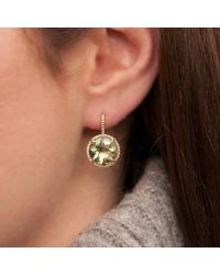 Anne Sisteron - Multicolor 14kt Yellow Gold Green Amethyst Diamond Round Earrings - Lyst