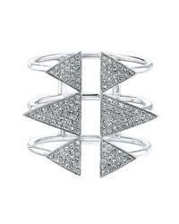Anne Sisteron - Metallic 14kt White Gold Diamond Triple Spike Ring - Lyst