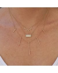 Anne Sisteron - Metallic 14kt White Gold Diamond Chevron Crown Necklace - Lyst