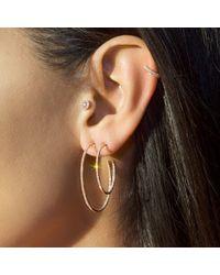 "Anne Sisteron - Multicolor 14kt Rose Gold Diamond 1 1/2"" Hoop Earrings - Lyst"