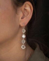 Anne Sisteron - Multicolor 14kt Rose Gold Quadruple Diamond Slice Earrings - Lyst