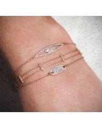 Anne Sisteron - Pink 14kt Rose Open Double Marquis Diamond Bracelet - Lyst