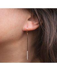 Anne Sisteron - Multicolor 14kt White Gold Diamond Dipped Bar Earrings - Lyst
