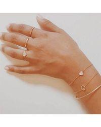 Anne Sisteron - Metallic 14kt Yellow Gold Diamond Heart Ring - Lyst