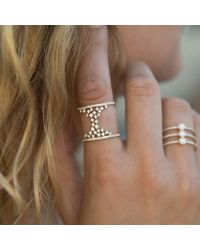 Anne Sisteron - Metallic 14kt Yellow Gold Diamond Lace Lana Ring - Lyst
