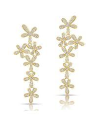 Anne Sisteron | Metallic 14kt Yellow Gold Diamond Wildflower Earrings | Lyst