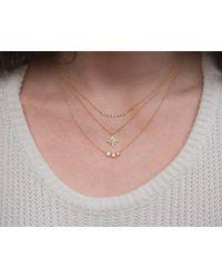 Anne Sisteron - Multicolor 14kt Rose Gold Diamond Triangle Crescent Necklace - Lyst