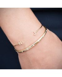 Anne Sisteron | Multicolor 14kt Rose Gold Diamond Initial Cuff | Lyst