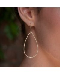 Anne Sisteron - Multicolor 14kt Yellow Gold Diamond Large Open Pear Earrings - Lyst