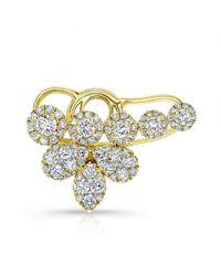 Anne Sisteron - Metallic 18kt Yellow Gold Diamond Carrie Ear Cuff - Lyst
