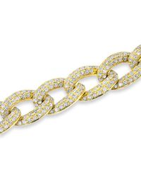 Anne Sisteron | Metallic 14kt Yellow Gold Diamond Chain Link Magnificence Bracelet | Lyst