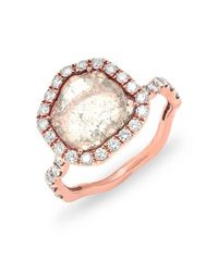 Anne Sisteron | Multicolor 14kt Rose Gold Luxe Organic Diamond Slice Ring | Lyst