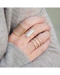 Anne Sisteron | Multicolor 14kt White Gold Aquamarine Diamond Beam Ring | Lyst