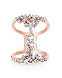 Anne Sisteron | Multicolor 14kt Rose Gold Diamond Lace Ring | Lyst