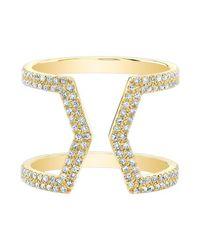 Anne Sisteron | Metallic 14kt Yellow Gold Diamond Cinder Ring | Lyst