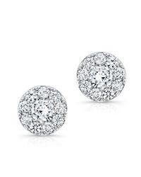 Anne Sisteron | Metallic 18kt White Gold Diamond Stud Earrings | Lyst