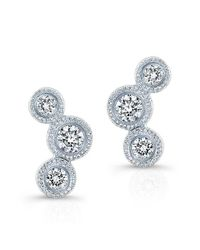 Anne Sisteron | Multicolor 14kt White Gold Bezel Set Diamond Hazel Earrings | Lyst