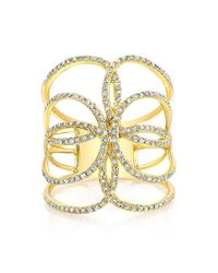 Anne Sisteron | Metallic 14kt Yellow Gold Diamond Butterfly Ring | Lyst