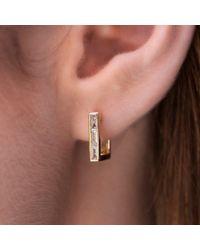 Anne Sisteron - Multicolor 14kt White Gold Baguette Diamond Square Huggie Earrings - Lyst