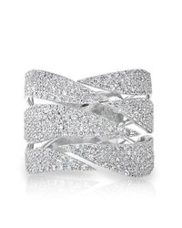 Anne Sisteron | Multicolor 14kt White Gold Diamond Flame Ring | Lyst