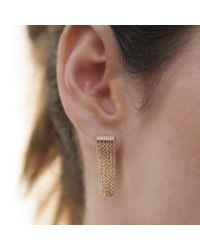 Anne Sisteron - Multicolor 14kt Rose Gold Diamond Bar Veil Earrings - Lyst