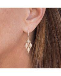 Anne Sisteron - Multicolor 14kt Rose Gold Diamond Mini Marquis Earrings - Lyst