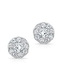 Anne Sisteron | Metallic 18kt White Gold Diamond Stud Earrings | Lyst