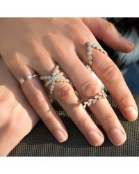 Anne Sisteron - Metallic 14kt Yellow Gold Diamond Harper Ring - Lyst