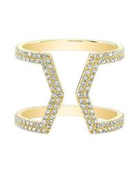 Anne Sisteron - Metallic 14kt Yellow Gold Diamond Cinder Ring - Lyst