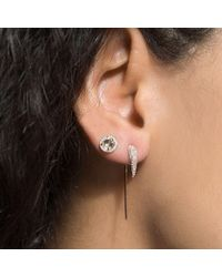 Anne Sisteron - Multicolor 14kt White Gold Diamond Horn Long Back Bar Earrings - Lyst