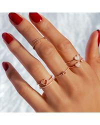 Anne Sisteron - Metallic 14kt White Gold Diamond Open Embrace Ring - Lyst