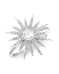 Anne Sisteron - Multicolor 14kt White Gold Diamond Sunburst Ring - Lyst