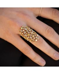 Anne Sisteron - Metallic 14kt Yellow Gold Colored Diamond Stella Ring - Lyst