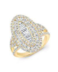 Anne Sisteron - Metallic 14kt White Gold Baguette Diamond Era Ring - Lyst