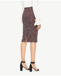 Ann Taylor - Multicolor Curvy Knit Tweed Pencil Skirt - Lyst