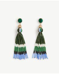 Ann Taylor | Metallic Variegated Seed Tassel Earrings | Lyst