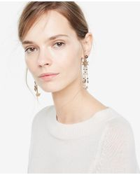 Ann Taylor - Metallic Burnished Statement Earrings - Lyst