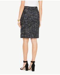Ann Taylor - Multicolor Tweed Button Tab Skirt - Lyst
