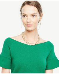 Ann Taylor | Metallic Chain Link Necklace | Lyst