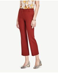 Ann Taylor | Red Petite Refined Kick Crop Flare | Lyst