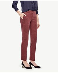 Ann Taylor | Red Devin Geo Everyday Ankle Pants | Lyst