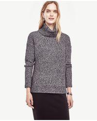 Ann Taylor | Black Hi-lo Turtleneck Sweater | Lyst