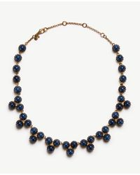 Ann Taylor | Blue Round Stone Necklace | Lyst