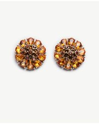 Ann Taylor | Multicolor Crystal Statement Studs | Lyst