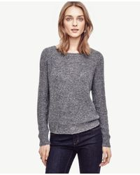 Ann Taylor | Gray Petite Sequin Sweater | Lyst
