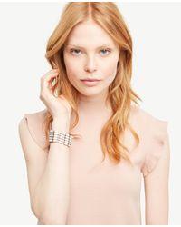 Ann Taylor | Multicolor Matte Beaded Bracelet | Lyst